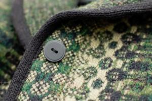 Green Heather jacket -- detail